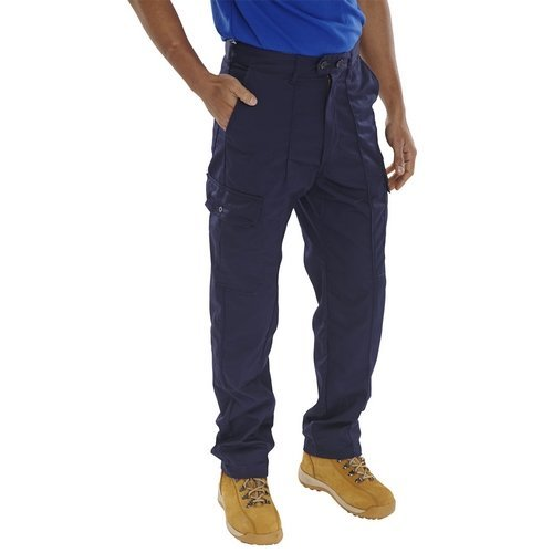 "Click PCTHWN30 Super Polycotton Work Trousers Navy Blue 30"" Regular"