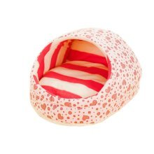 Egg-Shaped Cute Pet Kennel Doghouse Cat house for Kitten & Puppy(H25*W37, PINK)
