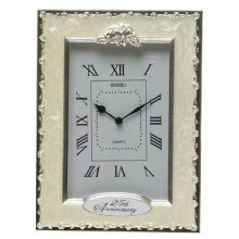 Celebration Silver 25th Anniversary Clock by Shudehill giftware