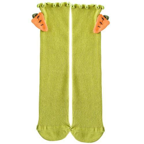 Baby Girl Stocking Knit Knee High Cotton Socks Princess Socks, Green