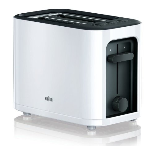 BRAUN Series 3 PurEase HT3000.WH 2-Slice Toaster - White, Braun
