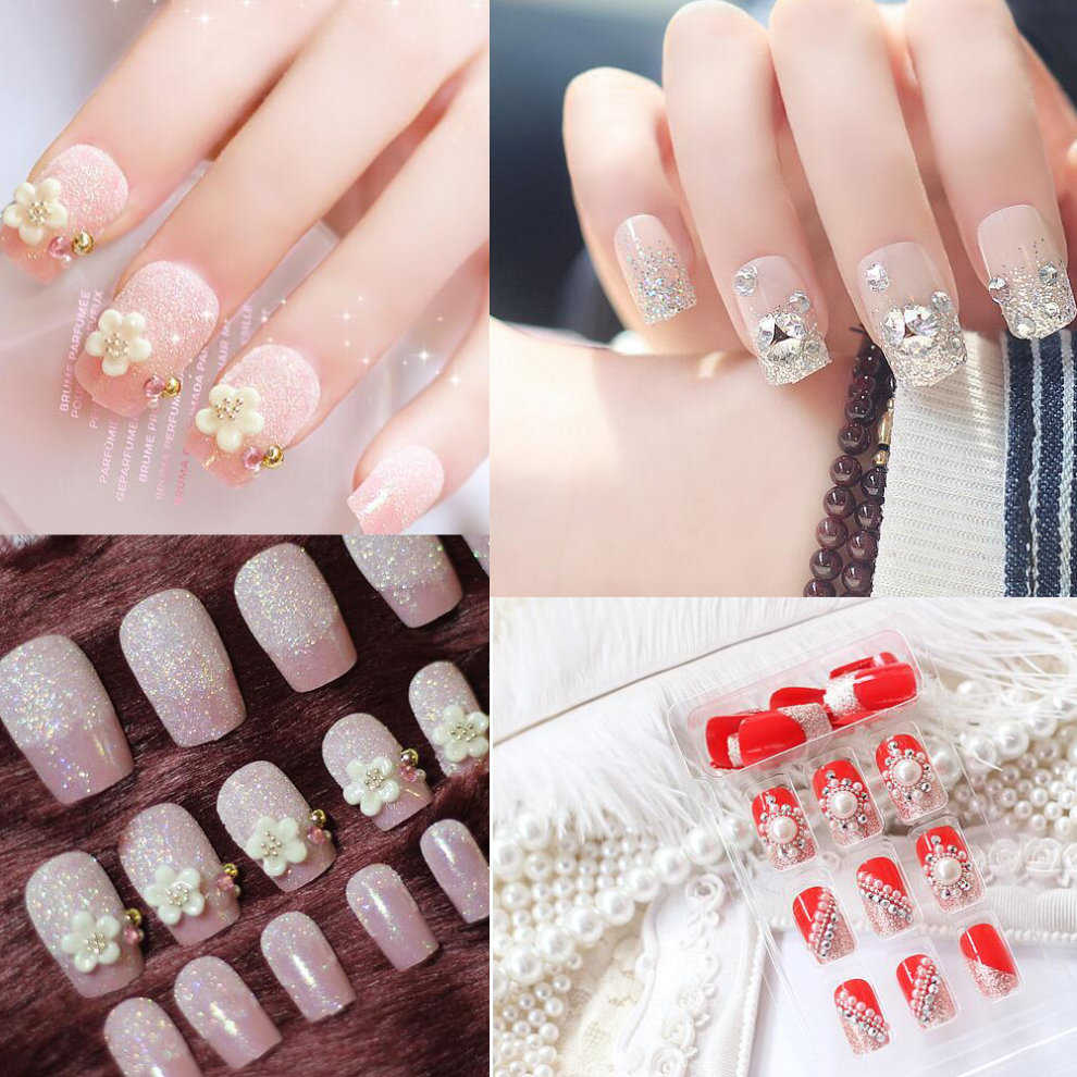 Satellite Flowers Nail Art Stickers Decals DIY Decoration Tools 24 ...