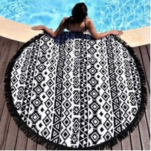Round Mandala Indian Hippie Boho Tapestry Polyester Blanket Beach Picnic Throw Towel Mat