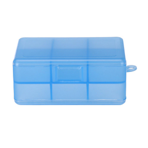 Two-Layer Portable Pill Case Medicine Storage Container 9 Compartments Blue