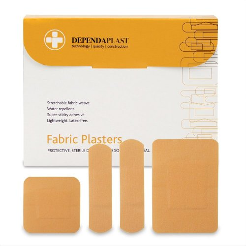 Reliance Medical Dependaplast Advanced Fabric Plasters Assorted Box of 100