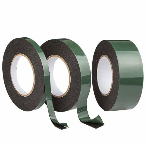 A+Selected Self Adhesive Foam Tape Strong Double Sided Mounting Tape Roll Black Sponge Tape Car Number Plate Sticky Tape Heavy Duty, 13mm 25mm 50mm...