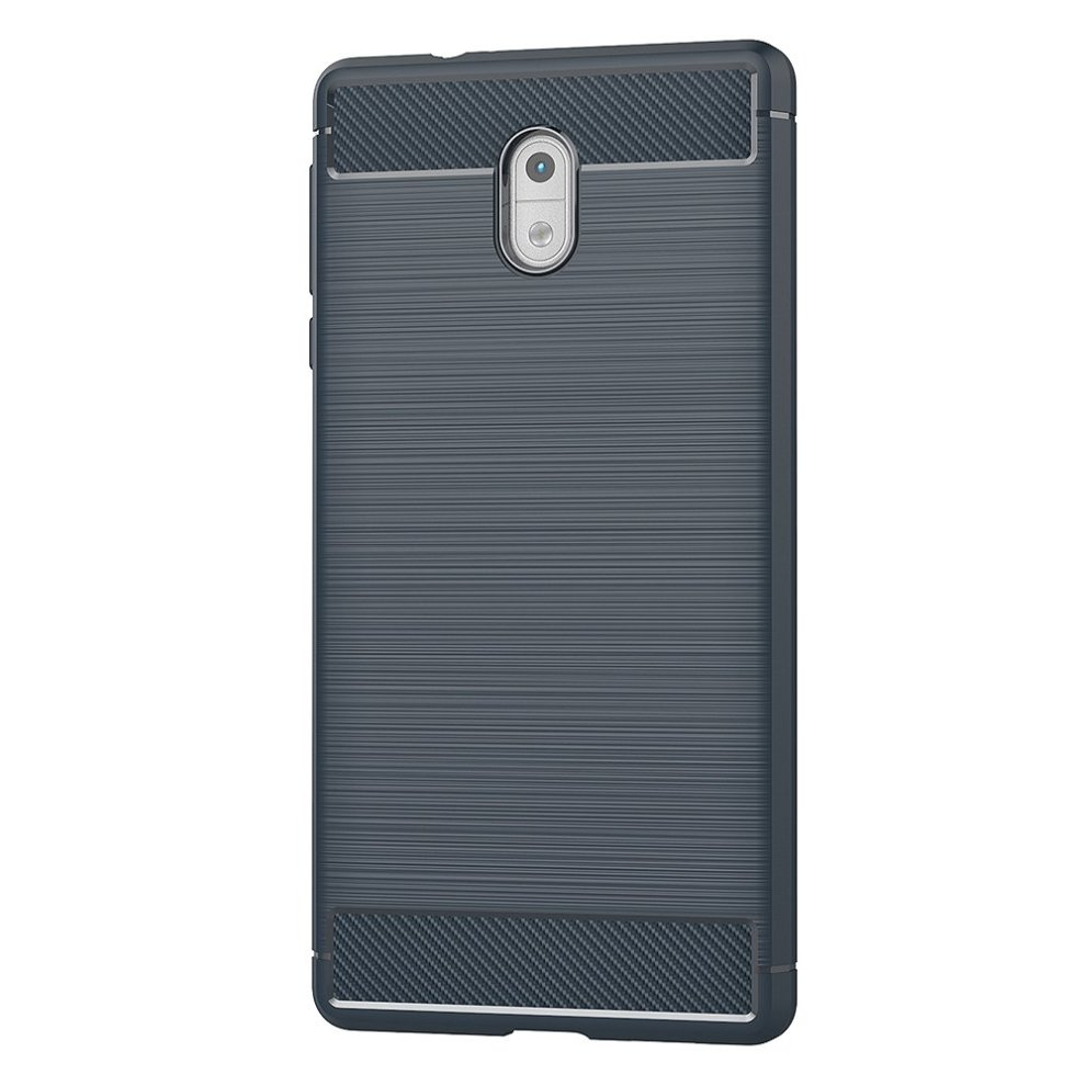first rate ac77f b17a6 Nokia 3 Case, AICEK Blue Silicone Cover for Nokia 3 Bumper Covers Nokia 3  Blue Carbon Fiber Case (5.0 inch)