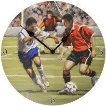 SCORE - Football / Soccer Theme Decorative Boys Analogue Wall Clock