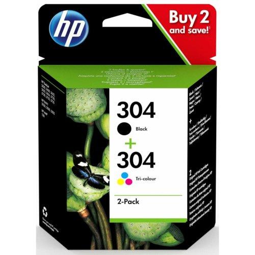 HP 304 Black + Tri-Colour Original Ink Cartridges 2-Pack (3JB05AE)