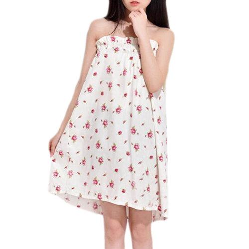 High-grade Thin Khan Steam Bathrobe Bath Skirt Strapless Bathing Dress-A04