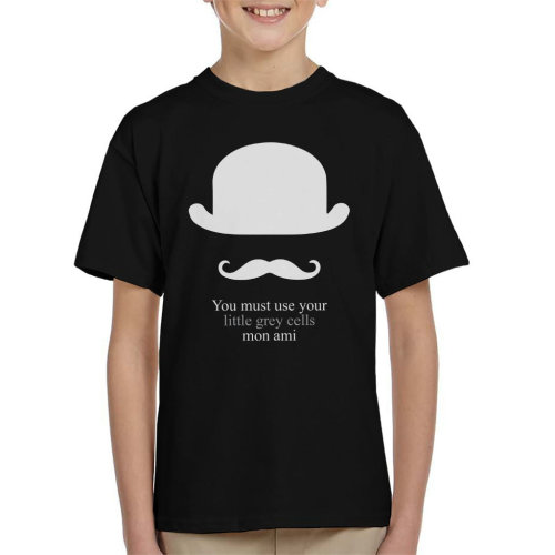 You Must Use Your Little Grey Cells Mon Ami Poirot Kid's T-Shirt