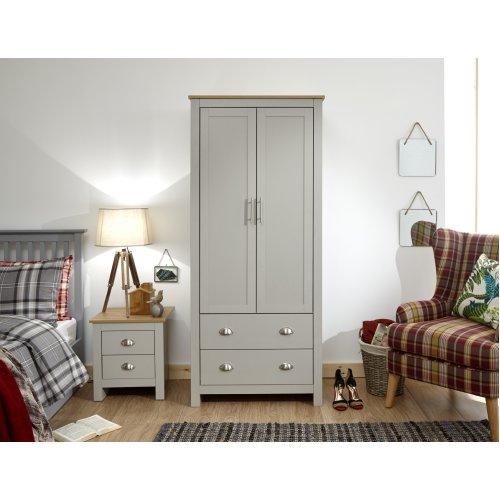 Lancaster Grey 2 Door Robe