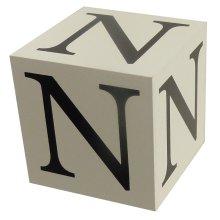 Wooden Block - Letter N