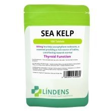 Lindens Sea Kelp Seaweed 500mg 100 Tablets Minerals Iodine Quality Supplement