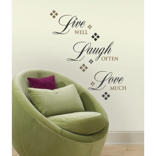 RoomMates RMK1396SCS Live Love Laugh Peel amp Stick Wall Decals 22 Count