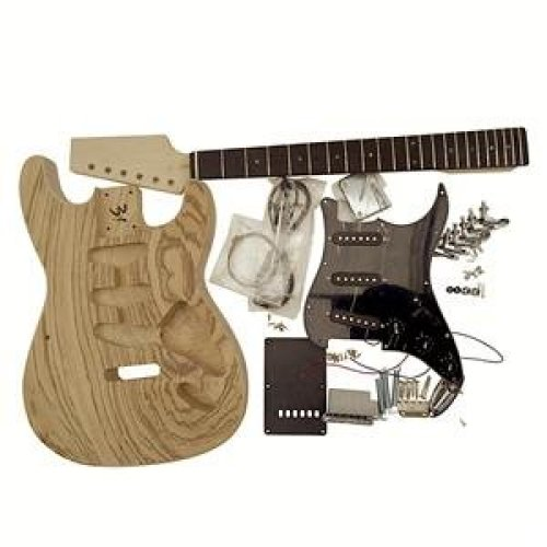 Coban Guitars Electric Guitar DIY Kit GDST4405 ZZ  With Double Sided Zebrawood