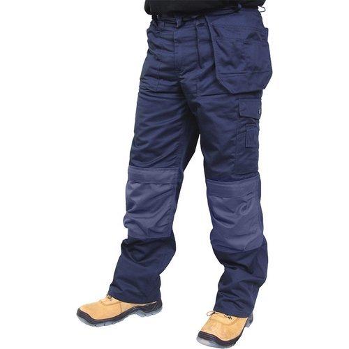 "Click CPMPTN30T Premium Multi Purpose Rugged Heavy Duty Work Trousers Navy Blue 30"" Waist Long Leg"