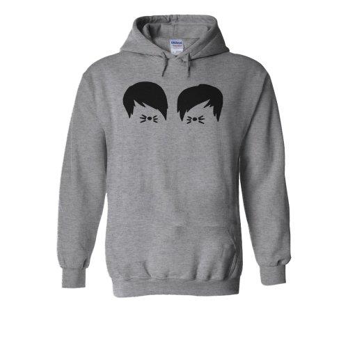 (Medium, Grey) Dan And Phil Funny Cool YouTube Novelty Forest White Men Women Unisex Hooded Sweatshirt Hoodie
