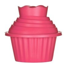 Giant Cupcake Mould, 3-Pieces - Hot Pink
