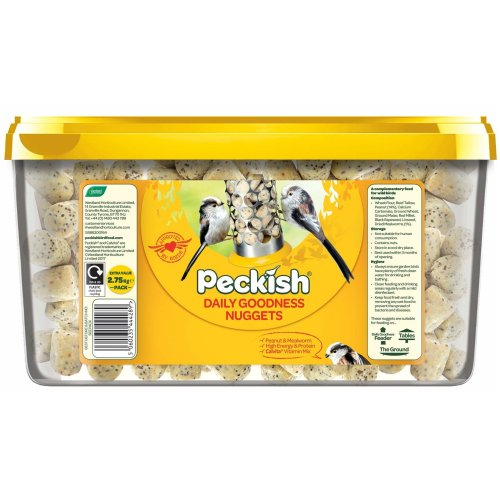 Peckish Daily Goodness Suet Nuggets for Wild Birds, 2.75 kg