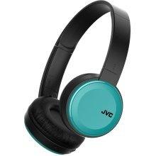 JVC Deep Bass Bluetooth Wireless On Ear Headphones - Blue (Model HAS30BTAE)