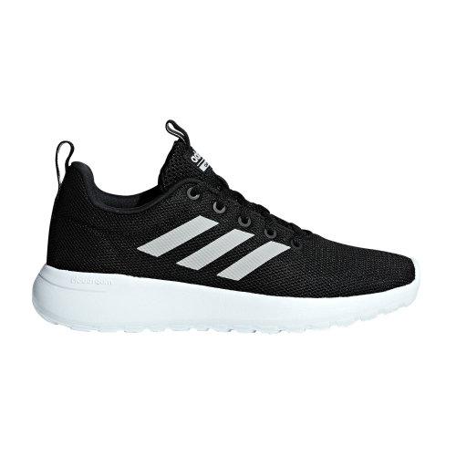 adidas Lite Racer CLN Kids Boys Sports Trainer Shoe Black/White