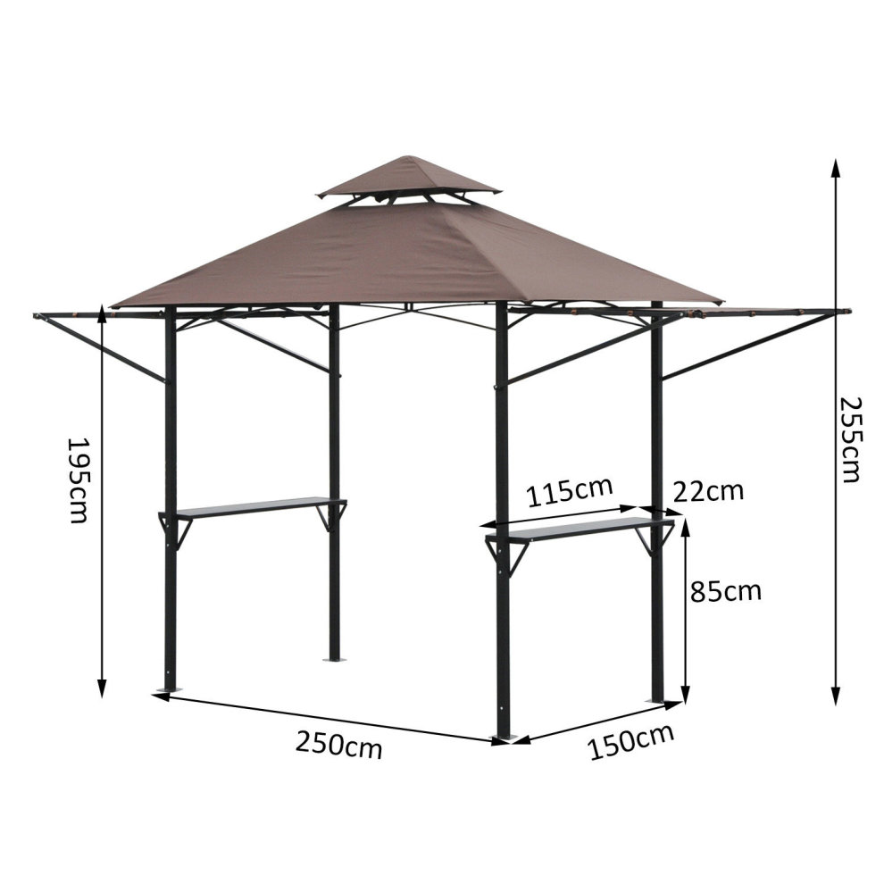 Outsunny 25 X 15m Bbq Tent Picnic Gazebo Shelter Portable