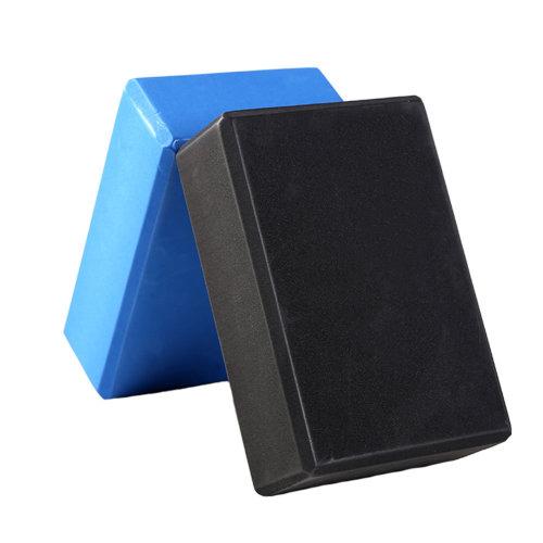 2PCS High-Density Yoga Block Blocks Brick Yoga Mat Accessory Gym, Black+Blue