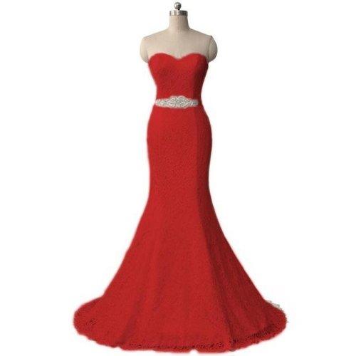 New Elegant White Ivory Lace Wedding Gown Real Satin Mermaid Wedding Dress 2017 Vintage Sash vestido De noiva