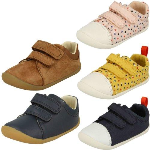 Childrens Boys Girls Clarks Pre-Walking Shoes Roamer Craft - F Fit