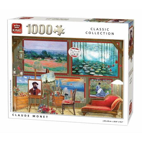 Claude Monet 1000 Piece King Classic Collection Jigsaw Puzzle