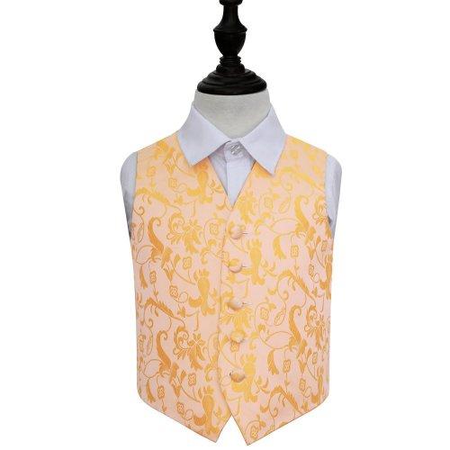 Gold Floral Wedding Waistcoat for Boys 24'