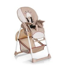 Hauck Sit-n-Relax Highchair with Bouncer Attachment and Toy Bar, from Birth, Giraffe/Beige