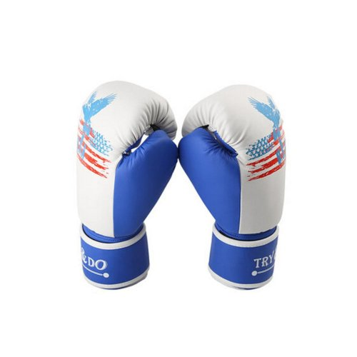Professional Cool Adult Boxing Gloves Training Gloves BLUE, 12 Ounce