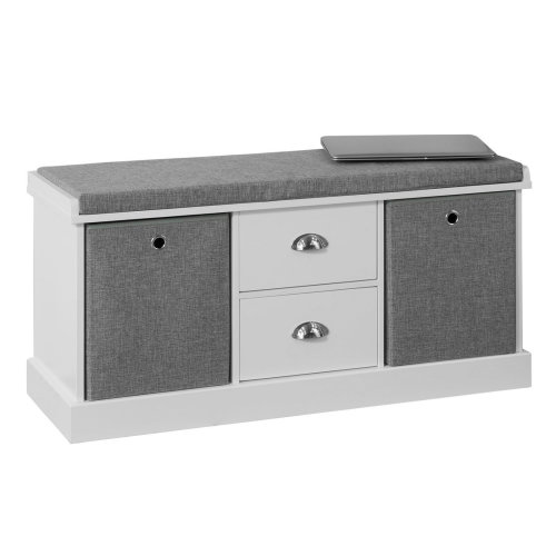 Super Storage Bench With Baskets And Drawers Avalonit Net Pdpeps Interior Chair Design Pdpepsorg