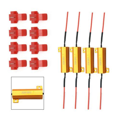 LED Fast Flash Accessor Load Indicator 50W 6RJ Resistor Signal blinker 4pcs