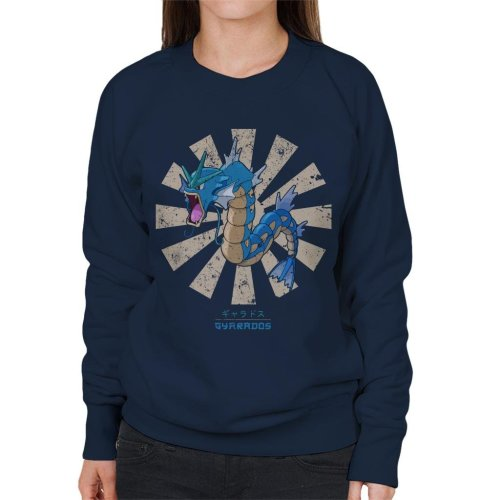 Gyarados Retro Japanese Pokemon Women's Sweatshirt