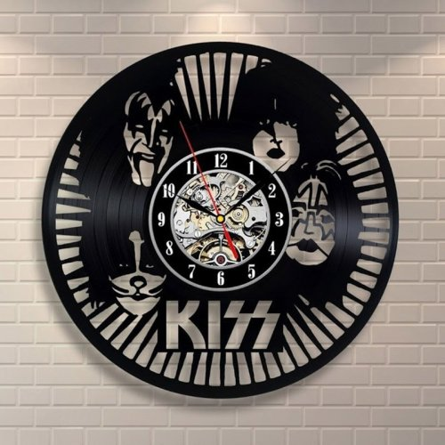 KUS Rock Band Gift for KISS Fans Led Vinyl Wall Art Clock