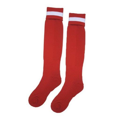 Solid Knee Football/Soccer Sock Mens Elite Sock Red Thick Socks