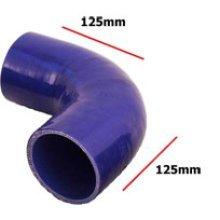 60mm Blue Internal 90 Degree Universal Silicone Hosing - Pipe 4 Ply Inside - Blue 90 Degree Universal Blue Silicone Hosing Pipe 4 Ply Inside Diameter