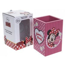 Red Disney Minnie Mouse Wooden Pen Pot