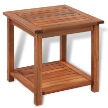 vidaXL End Table Acacia Wood