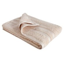 New Egyptian Cotton Soft High Quality Solid Color Washcloth Bath Towel Flannel, Creamy (34x75cm)