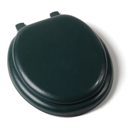 Jones Stephen C1B5R2-60 Deluxe Soft Round Toilet Seat with a Closed Front and Wood Cores- Forest Green