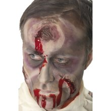 Halloween A Hole In The Head Fake Scar, Bullet Wound With 7oz Fake Blood 36815 -  halloween hole head scar wound fancy dress zombie fake bullet