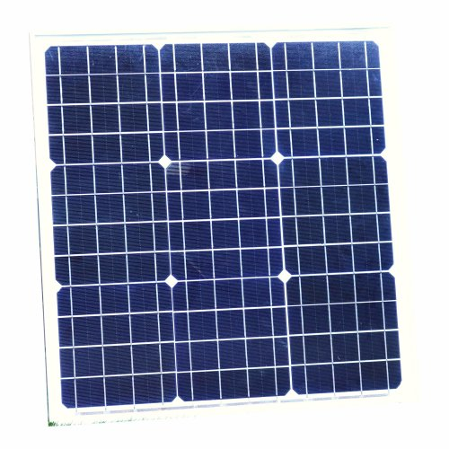 PK Green 40W Solar Panel with Cable for 12V Battery, Caravan, Motorhome, Camping, Car, Boat, Shed - Monocrystalline PV Solar Panels