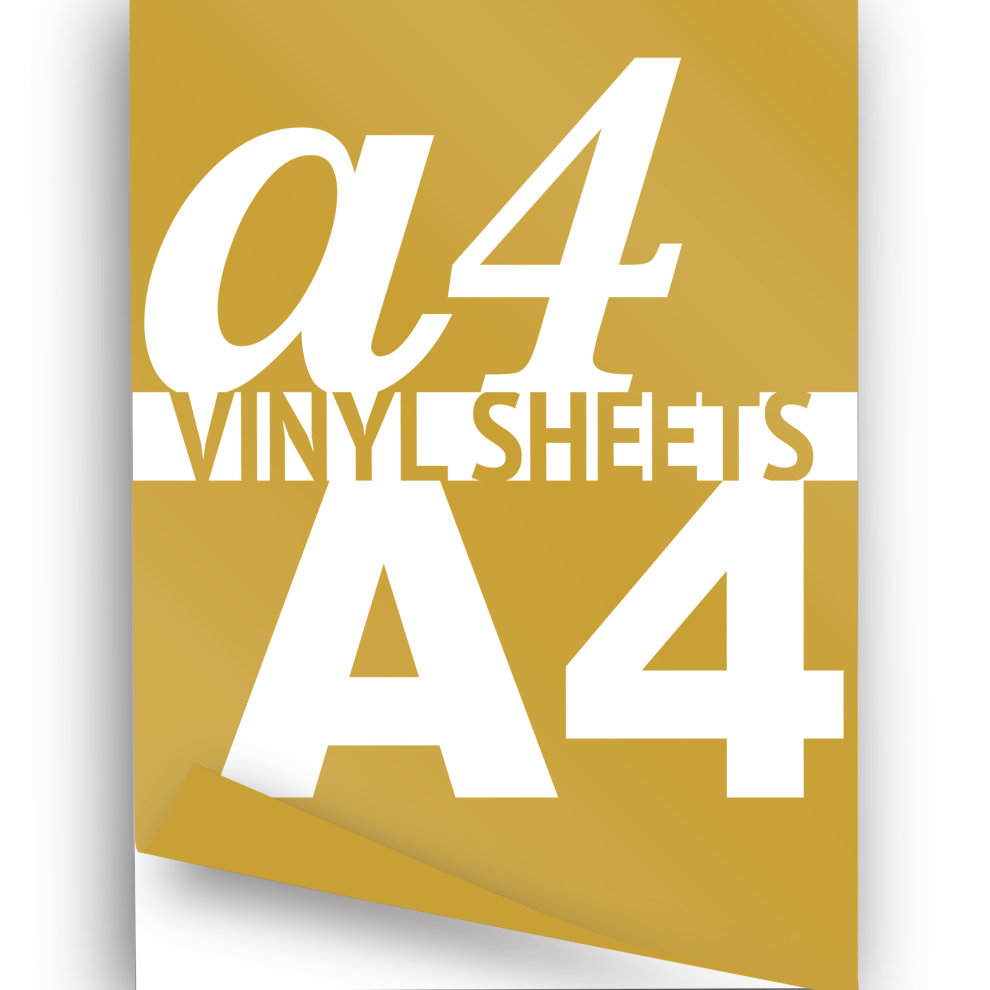 photo about Laser Printable Vinyl identify A4 Laser Printable Vinyl Sheets, Gold Self Adhesive
