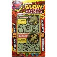 3D GLOW in the DARK Dinosaur Puzzle -Includes 2 Species ; Stegosaurus & Parasaurolophus by GLOW BONES
