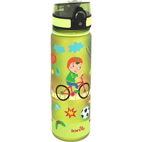 Ion8 All Leak Proof BPA Free Sports Slim Water Bottle, Green, Size 500 ml