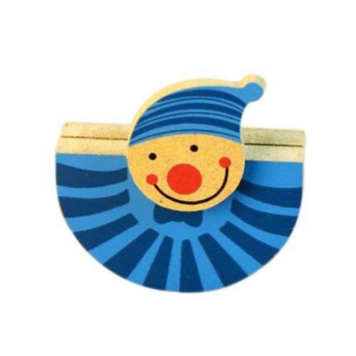 Funny Clown Memo Holder Card/Photo Clip Desk Decor(4 Pieces)